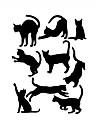 Animale Desene Animate Istorie Perete Postituri Autocolante perete plane Autocolante de Perete Decorative,Vinil Pagina de decorare de