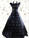Medeltida kostymer Victoriansk Gotiskt Kostym Dam Klänningar Maskerad Festklädsel Svart Vintage Cosplay Annat Satin Ärmlös Holk Golvlång