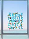 Ord Nutida Fönsterklistermärke, PVC/Vinyl Material fönster~~POS=TRUNC Matsalsrum Sovrum Kontor Barnrum Vardagsrum Badrum Butik / Cafe Kök
