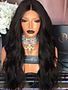 Remy-hår Spetsfront Peruk Naturligt vågigt 180% Densitet 100 % handbundet Afro-amerikansk peruk Naturlig hårlinje Korta Mellan Lång Dam