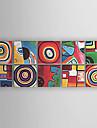Hang målad oljemålning HANDMÅLAD - Abstrakt Abstrakt Modern Duk