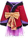 Inspirat de Vocaloid Megurine Luka Video Joc Costume Cosplay Costume Cosplay Kimono Peteci Manșon Lung Fustă Accesoriu de Păr Centură
