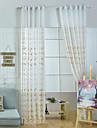 Tratamentul fereastră Cu model Pastoral , Brodată Sufragerie Material Sheer Perdele Shades Pagina de decorare For Fereastră