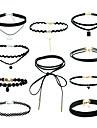 Pentru femei Seturi de bijuterii Coliere cu Pandativ negru cravată Hip-Hop costum de bijuterii Franjuri Stil Punk Material amestecat Aliaj