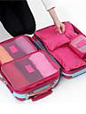 Textil Plast Oval Originella Multi-funktionell Hem Organisation, 6 Förvaringspåsar