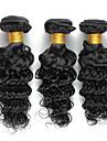 Brasilianskt hår Curly Weave Lockigt Hårförlängning av äkta hår 3 delar Heta Försäljning 0.15