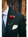 Bărbați / Pentru femei Broșe - Floare Broșă Albastru / Roșu Vin / Albastru Deschis Pentru Nuntă / Petrecere / Petrecere / Seară