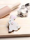 1 Instrumente cookie Rabbit Animale desen animat în formă Pâine Biscuiți Plăcintă pentru brânză pentru Candy pentru Sandwich TeakCrăciun