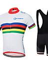 Cykeltröja med Haklapp-shorts Herr Kortärmad Cykel Collegetröja Tröja Shorts Skjorta ÖverdelarSnabb tork Fuktgenomtränglighet 4D Tablett