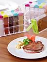 1 buc Bucătării Canistere Plastic Uşor de Folosit Organizarea bucătăriei