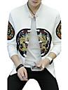 Bărbați Stand Mărime Plus Size Jachetă Activ Șic Stradă - Mată Leopard, Imprimeu Brodat Peteci Bumbac