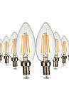 YWXLIGHT® 4W 300-400 lm E12 LED-kronljus C35 4 lysdioder COB Bimbar Dekorativ Varmvit AC 110-130V