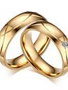 Par Strass Kubisk Zirkoniumoxid Parringar - Rund Klassisk Elegant Minimalistisk Stil Guld Ringa Till Bröllop Party Årsdag Förlovning