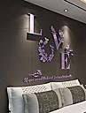 Romantic Perete Postituri 3D Acțibilduri de Perete Autocolante de Perete Decorative Autocolante de Nuntă,Teracotă MaterialPagina de