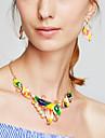 Pentru femei Set bijuterii Include Σκουλαρίκια Coliere - Modă Reșină Aliaj Floare Colier / cercei Coliere Pentru Petrecere Zi de Naștere