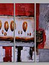 Pictat manual Abstract Vertical,Artistic Trei Panouri Canava Hang-pictate pictură în ulei For Pagina de decorare