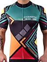 Maillot de Cyclisme Homme Femme Manches Courtes Velo Maillot Hauts/Top Sechage rapide Diminue Irritation Haute elasticite Leger Spandex