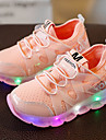 Fete Adidași Pantofi Usori Piele Tul Primăvară Vară Toamnă Casual Plimbare Pantofi Usori LED Toc Jos Alb Negru Roz Sub 2.5 cm