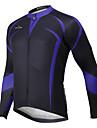 ILPALADINO Maillot de Cyclisme Homme Femme Unisexe Manches Longues Velo Hauts/Tops Etanche Sechage rapide Design Anatomique Zip etanche