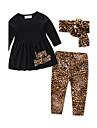 Fete Seturi Imprimeu Animale Bumbac Primăvară Toamnă Manșon Lung Set Îmbrăcăminte