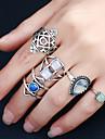 Pentru femei Inel Design Circular Multi-moduri Wear Modă Stâncă Aliaj Metalic Reșină Ștras Aliaj Rotund Circle Shape Costum de bijuterii