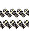 10pcs t10 8 smd 5630 condus de canbus eroare fără lumină auto parbriz lumini w5w 8smd condus de mașină wedge coada becuri lămpile de
