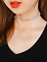 Pentru femei Coliere Choker Obsidian Geometric Shape Imitație de Perle Articole de ceramică ȘtrasLa modă Treapie Magnetică Cute Stil