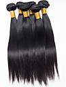 Brasilianskt hår Rak Hårförlängning av äkta hår Human Hår vävar Dam Dagligen