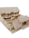 3D Puzzle Jigsaw Puzzle Wood Model Model Building Kit Famous buildings Chinese Architecture Simulation DIY Wooden Wood Classic Chinese