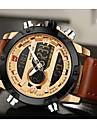NAVIFORCE Bărbați Ceas Sport Ceas Elegant Ceas La Modă Quartz Piloane de Menținut Carnea LCD Calendar Rezistent la Apă Zone Duale de Timp