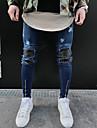 Bărbați Subțire Simplu Șic Stradă Talie Medie,Micro-elastic Skinny Pantaloni Alte