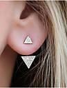 Pentru femei Cercei Stud Ștras La modă costum de bijuterii Aliaj Triangle Shape Bijuterii Pentru Zilnic