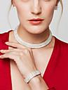 Pentru femei Seturi de bijuterii Coliere Choker Cercei Lănțișor Ștras Lux Elegant de Mireasă Multistratificat Modă Nuntă Petrecere Zilnic