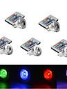 ywxlight 5pcs 3w e27 / e14 / gu10 rgb couleur changeant led ampoule lampe avec telecommande (85-265v)