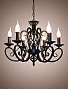 6-Light Lumânare stil Candelabre Lumini Ambientale - Stil lumânare, 110-120V / 220-240V Becul nu este inclus / 10-15㎡ / E12 / E14