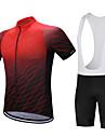 FUALRNY® Cykeltröja med Haklapp-shorts Herr Kortärmad Cykel Klädesset Cykelkläder Snabb tork Fuktgenomtränglighet Minskar skavsår