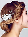 Crystal / Organza Hair Combs / Headwear with Floral 1pc Wedding / Special Occasion / Anniversary Headpiece
