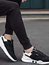 Erkek Ayakkabı PU Bahar / Sonbahar Atletik Ayakkabılar Yürüyüş Atletik / Dış mekan için Bağcıklı Beyaz / Siyah / Beyaz