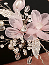 Tulle Imitation Pearl Rhinestone Net Alloy Flowers Headwear Hair Clip with Floral 1pc Wedding Special Occasion Birthday Party / Evening