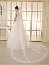 Voal de Nuntă Un nivel Voaluri Lungi Până la Cot Voaluri tip Capelă Margine cu Aplicație de Dantelă Tulle