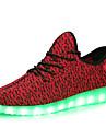 Damă Adidași Confortabili Pantofi Usori Tul Toamnă Iarnă De Atletism Casual Dantelă LED Toc Jos Negru Gri Rosu Sub 2.5 cm