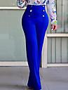Pentru femei Mărime Plus Size Șic Stradă Talie Inaltă, Micro-elastic Bootcut Pantaloni Chinos Pantaloni Poliester Mată Toate Sezoanele