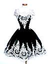 O piesă/Rochii Lolita Stil Gotic Lolita dulce Clasic/Traditional Lolita Punk LolitaInspirație Vintage Elegant Βικτωριανής Εποχής Rococo
