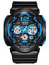 SMAEL Heren Sporthorloge Polshorloge Digitaal horloge Digitaal Gewatteerd PU-leer Zwart 50 m Hot Sale Analoog-Digitaal Amulet Modieus - Zwart / groen Zwart / Blauw Zwart / grijs