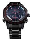 NAVIFORCE Bărbați Ceas de Mână Quartz Quartz Japonez LED LCD Calendar Cronograf Rezistent la Apă Zone Duale de Timp alarmă Oțel inoxidabil