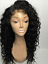 Remy Human Hair Glueless Lace Front Lace Front Wig style Brazilian Hair Curly Natural Black Wig 130% 150% 180% Density 8-26 inch with Baby Hair Natural Hairline African American Wig 100% Hand Tied