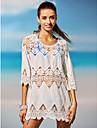 Pentru femei Mată Halter Șal Costume de Baie Solid Împletituri Crochet Alb