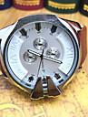 JUBAOLI Herrn Sportuhr / Armbanduhr Chinesisch Kalender / Stopuhr / Cool Edelstahl Band Freizeit / Modisch Schwarz / Braun / Grosses Ziffernblatt / SSUO LR626