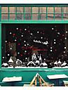 Autocollants muraux decoratifs - Autocollants avion Noel / Vacances Salle a manger / Magasins / Cafes
