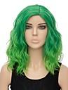 Parrucche sintetiche Poco ondulata Capelli sintetici Capelli schiariti Verde Parrucca Per donna Corto Senza tappo Verde